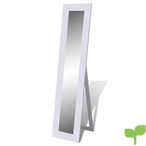 vidaXL Espejo de Pie Longitud Blanco