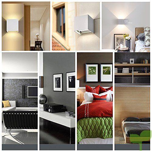 7W LED Apliques De Pared Modernos En Acero, Lamparas para Dormitorios,  Salon,lamparas de comedor, lamparas de salon modernas, iluminacion led  interior ...