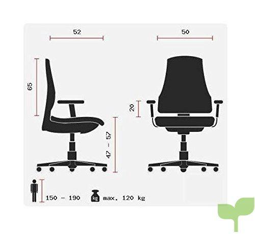 Office 668010 Integrado ApoyabrazosBase Hjh Piel CromadaApoyacabezas Silla De Tejido Sintética Malla Arton 20 NegroCon Oficina P8kn0XwO