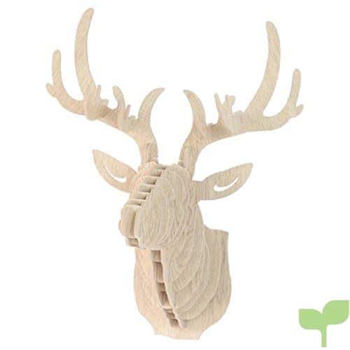 3D Modelo Ciervos Animales Escultura de Cabeza de Fauna Colgant de Pared Decoración Madera – 6