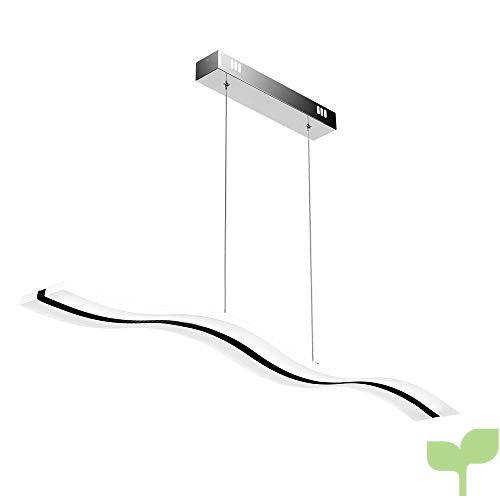 Create For Life Lámpara colgante LED,Lámpara de techo colgante 38W LED Lámpara de techo 6000 Kelvin Blanco fríoo, acrílico araña moderna