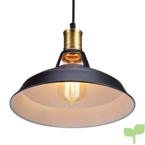 Iluminación RetraLa 40W Luz Vintage Lámpara Colgante Colgante Lámpara de Lámpara Industrial Luz Glighone Luz Metal de Pantalla de Techo Rústica 0wONZkX8nP