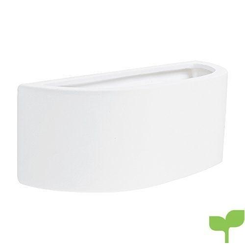 MiniSun – Aplique de pared moderno, cerámica blanca y forma de balcón – elegante y perfecto para pintarlo y combinar colores