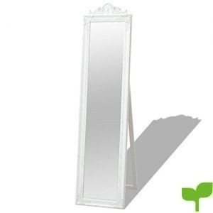 vidaXL Espejo de Pie Estilo Barroco 160×40 cm Color Blanco Espejo Cuerpo Entero