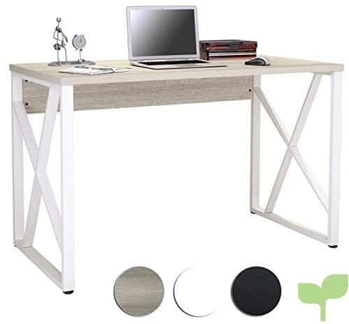 SixBros. Mesa de ordenador Roble/Blanco Óptica madera S-349/1851