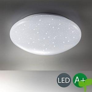 Lámpara LED de techo I Lámpara con efecto de destello I Tarjeta LED I Plafón de techo I Blanco I Simulación de estrellas I Color de la luz blanco frío I 230 V I IP20 I 12 W I Ø 290 mm
