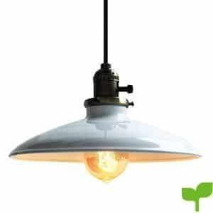 Glighone Lámpara de Techo Lámpara Vintage Lámpara Industrial UL Led Lámpara Colgante Retro Lámpara de Comendor, Adecuado para Restaurante, Bar, Cafetería, etc, Color Blanco