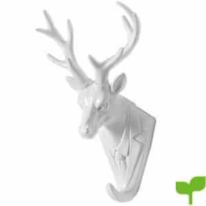 Gancho de la capa del ciervo, Isenretail gancho de pared retro de cabeza de animal, Material de resina, Gancho de la puerta del gancho del abrigo de pared
