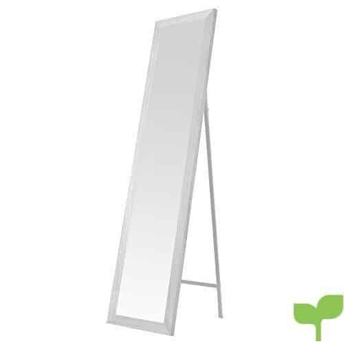 Espejo de pie nórdico Blanco de Madera DM para Dormitorio de 37 x 157 cm Fantasy – LOLAhome