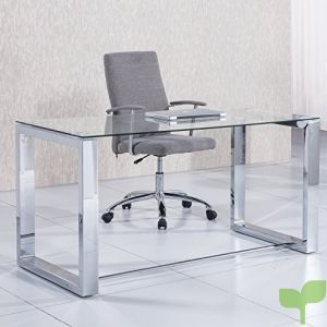 Due-home 2454140031 – Mesa de Escritorio Office – Color – Metal Cromado