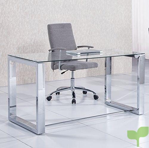 Due-home 2454140031 – Mesa de Escritorio Office – Color – Metal Cromado