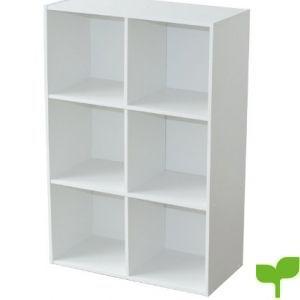 Alsapan 94046 Compo 08 – Estantería con 6 repisas, color blanco, 61,5 x 29,5 x 91,1 cm