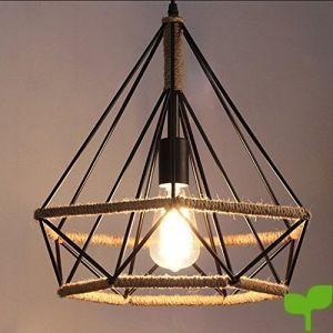Gazechimp Luz Colgante Lámpara de Techo Marco Negro de Pantalla Iluminación Estilo Moderno Duaduro