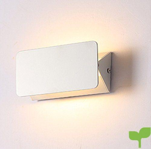 Unimall Aplique Led Pared para Dormitorio Lámpara de Pared Luz en Moda Lectura Iluminacion Escalera para Studio o Porche Led Bombilla Incluída (Luz Blanca Cálida)