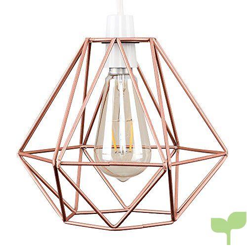 MiniSun – Pantalla vintage para lámpara de techo, de estilo cesta de cobre Nueva York