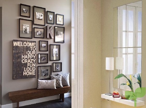 Cómo decorar las paredes de un recibidor