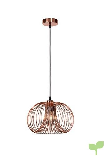 Lucide VINTI E27 Cobre iluminación de techo – Lámpara (Dormitorio, Entrada, Salón, Cobre, IP20, Cepillado, Otro, I)
