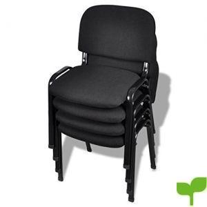 vidaXL Silla de oficina de pila 4 piezas Set de Sillas Juego de sillas