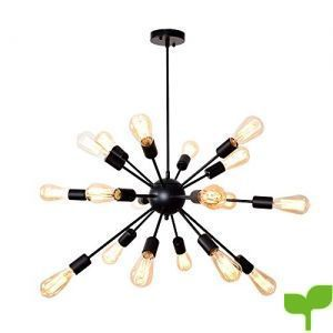 Lingkai 18 Luz Industrial estilo Sputnik lampara colgante l¨mpara de ara?a, Iluminaci¨n de techo vintage