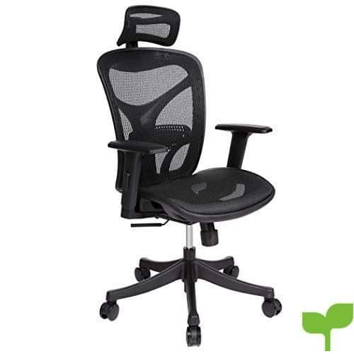 Aceshin silla escritorio ergon mica asiento de malla for Silla giratoria ergonomica