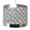 Accesorio de pantalla, lámpara colgante de techo, moderno, brillante, color plateado