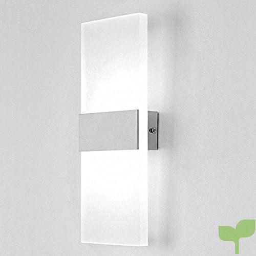Lampop Apliques de Pared Moderno 6w Acrillico Lámpara Abat Jour de Muro Dormitorio LED E27 Blanco Frío