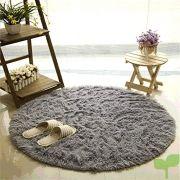 alfombras camal material de lana de seda artificial redonda alfombras de yoga para sala de estar dormitorio y baño 140cm gris 180x180 - Listado de páginas de nuestro sitio web
