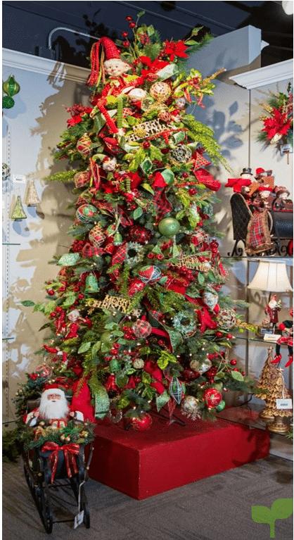 arbol de navidad tradicional - Ideas para la decoración del árbol de navidad