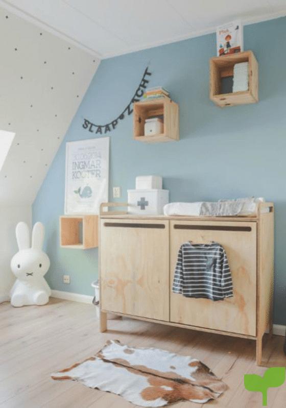 Armarios y muebles para la decoración de la habitación del bebé
