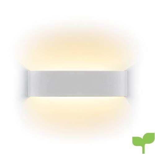 Netboat Lámpara de pared Interior 12W Moderna Apliques de Pared Blanco Cálido,Moda Agradable Luz de Ambiente perfecto para Lámpara de Decoración para
