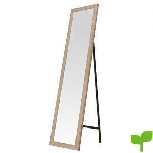 Espejo de pie de Madera Beige nórdico para Dormitorio de 37 x 157 cm France – LOLAhome