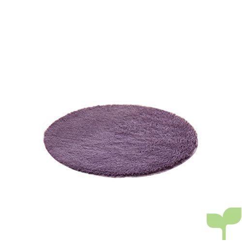 HomeMiYN Alfombra redonda multicolor de color sólido super suave para el hogar, alfombras de varios tamaños, almohadillas para el suelo para sala de estar o dormitorio, Purple Gray, Diameter:1.0ft
