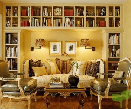 biblioteca empotrada 1 - Cómo decorar un salón pequeño