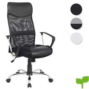 SixBros. Design – Sillón de oficina Silla de oficina Silla giratoria negro – H-935-6/1319