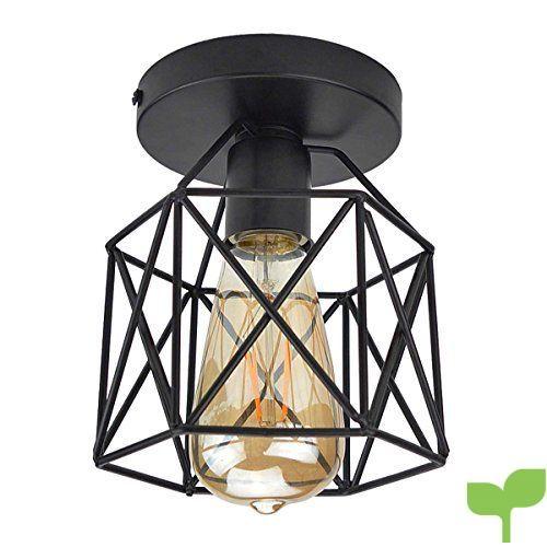 ZHMA Techo de Metal de Reequipamiento lámpara de techo, Industrial lámpara, Lámpara de Techo Colgante Mini de Estilo Vintage, (E27, solo pantalla, no hay bombillas)
