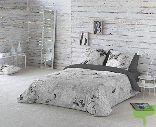 Medidas Funda Nordica Para Cama 180.Cotton Art Funda Nordica Dos Gardenias Gris Cama De 150 240x260cm