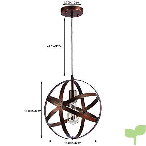Colgante Araña lámpara De Rústico e27 Esférica Industrial Metal Decopot Techo Vintage Lámpara Lámparas Retro tQhdxsrC