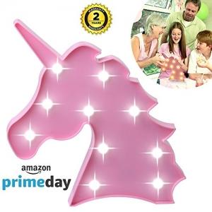 Cabeza de unicornio lindo llevó la luz de la noche Animal / Fruit forma de la carpa LED lámparas en la pared para los niños de regalo de los niños Iluminación interior Decoración de la sala de la boda del partido de Chrismas (Pink Unicorn Head)