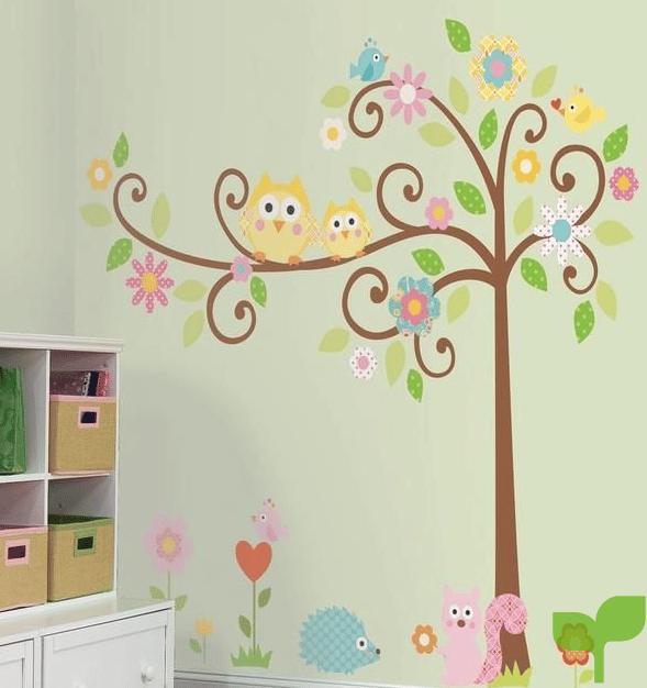 Decoración para las paredes de la habitación del bebé 1