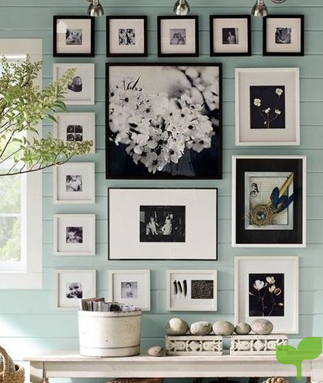 decorar con fotos decorar con una composición de fotos - Ideas para decorar con fotos