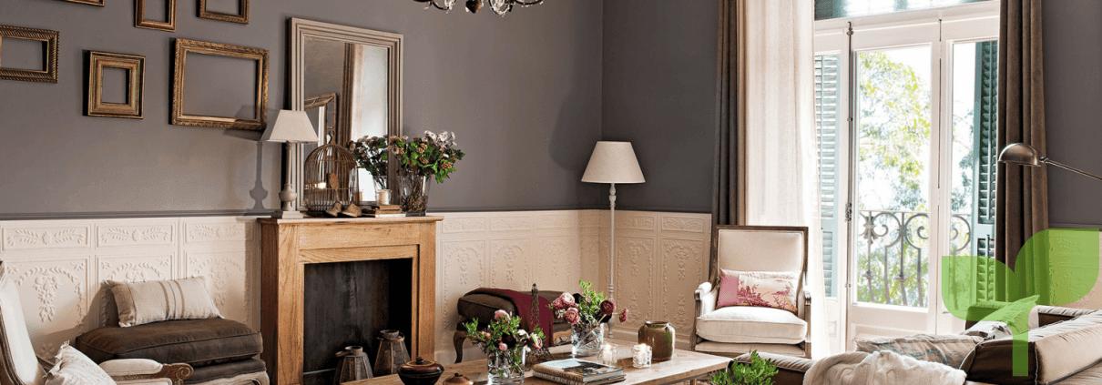 decorar las paredes de un salón