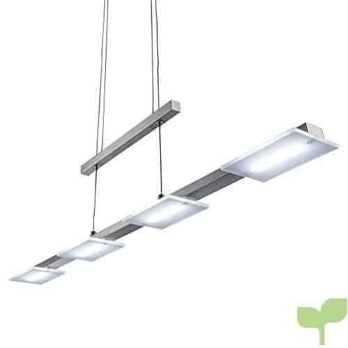 Altura Regulable 4W LED Lámpara colgante con 4x LED de placas 330LM 3000K LED Lámpara de techo Salón esstischleuchte Blanco Cálido IP20lámpara de interior plástico mate níquel 4focos