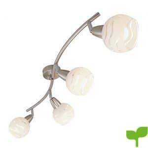 Briloner Leuchten Lámpara De Techo, 40 W, Níquel Mate, 70 X 9.7 X 13 cm