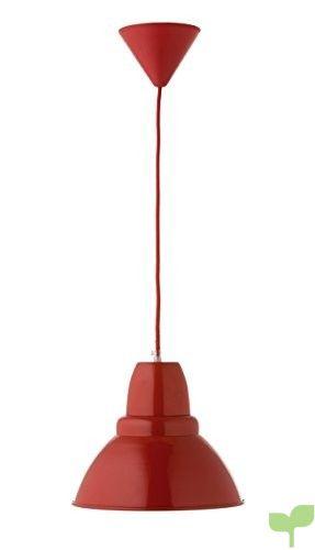 Els Banys City 25 – Lámpara colgante de techo, color rojo (disponible en varios colores)