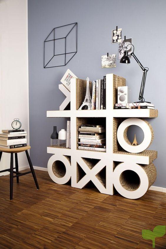 estanterias con cajas de carton 3 - Ideas para decorar con cajas