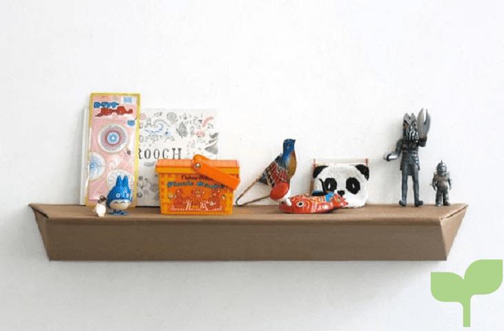 estantes con cajas de carton 1 - Ideas para decorar con cajas