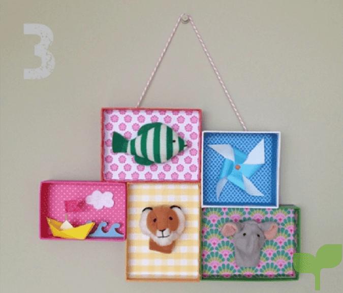 estantes con cajas de carton 2 - Ideas para decorar con cajas