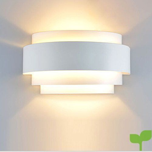 Unimall Aplique de Pared LED Moderna Lámpara de Pared en Interior Iluminacion de Pared de Noche en Hogar Bombilla Incluída para Dormitorio, Studio, Hogar Decoración, Porche, Closet Garaje (B)