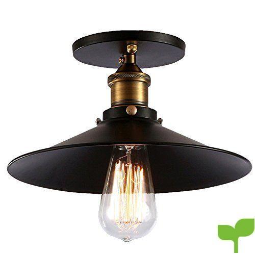 Fuloon Retro Luz Colgante de Vintage Industrial Lámpara de Techo ...