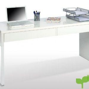 Habitdesign 002315BO – Mesa Escritorio, Color Blanco Brillo, Modelo Touch, Dimensiones 138x75x50 cm de Fondo